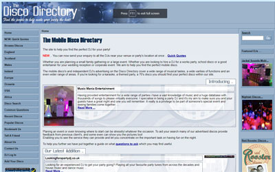 Mobile Disco Directory, click for details