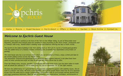 Ephcris Guesthouse in Ilfracombe, North Devon, click for details