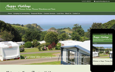Napps Campsite in North Devon, click for details