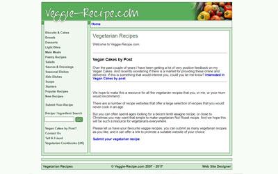 Veggie Recipes, click for details